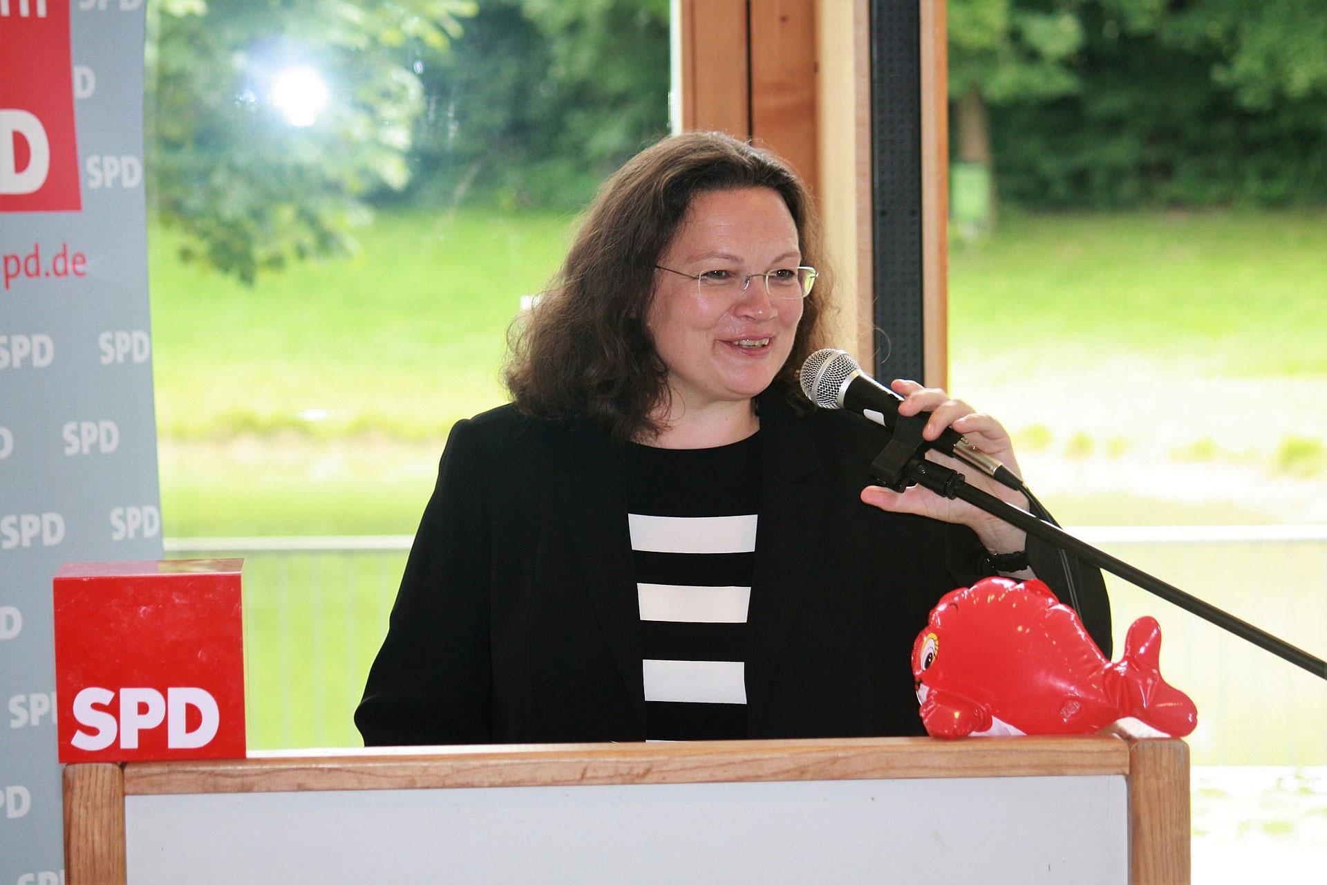Andrea Nahles In Der SPD Wegen Jesus Christus GLAUBE